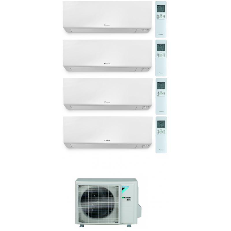 CONDIZIONATORE DAIKIN PERFERA WALL QUADRI SPLIT 7000+7000+7000+18000 BTU WI-FI INVERTER R32 4MXM80N A+++