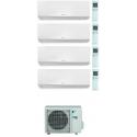 CONDIZIONATORE DAIKIN PERFERA WALL QUADRI SPLIT 7000+9000+9000+15000 BTU WI-FI INVERTER R32 4MXM80N A+++