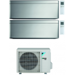 CONDIZIONATORE DAIKIN STYLISH SILVER WI-FI DUAL SPLIT9000+12000 BTU INVERTER GAS R-32 2MXM40N A+++