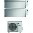 CONDIZIONATORE DAIKIN STYLISH SILVER WI-FI DUAL SPLIT7000+12000 BTU INVERTER GAS R-32 2MXM68N A+++