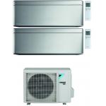 CONDIZIONATORE DAIKIN STYLISH SILVER WI-FI DUAL SPLIT9000+12000 BTU INVERTER GAS R-32 2MXM68N A+++