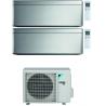 CONDIZIONATORE DAIKIN STYLISH SILVER WI-FI DUAL SPLIT15000+18000 BTU INVERTER GAS R-32 2MXM68N A+++