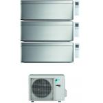 CONDIZIONATORE DAIKIN STYLISH SILVER WI-FI TRIAL SPLIT7000+9000+12000 BTU INVERTER GAS R-32 3MXM52N A+++