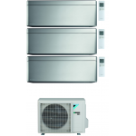 CONDIZIONATORE DAIKIN STYLISH SILVER WI-FI TRIAL SPLIT9000+9000+9000 BTU INVERTER GAS R-32 3MXM52N A+++