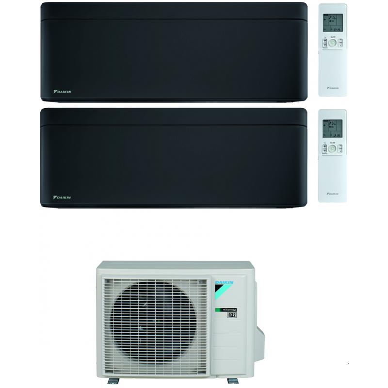 CONDIZIONATORE DAIKIN STYLISH TOTAL BLACK WI-FI DUAL SPLIT 9000+9000 BTU INVERTER GAS R-32 2MXM40N A+++