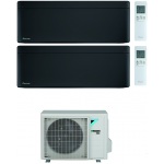 CONDIZIONATORE DAIKIN STYLISH TOTAL BLACK WI-FI DUAL SPLIT 12000+15000 BTU INVERTER GAS R-32 2MXM50N A+++