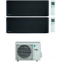 CONDIZIONATORE DAIKIN STYLISH TOTAL BLACK WI-FI DUAL SPLIT7000+18000 BTU INVERTER GAS R-32 2MXM68N A+++