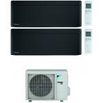 CONDIZIONATORE DAIKIN STYLISH TOTAL BLACK WI-FI DUAL SPLIT9000+12000 BTU INVERTER GAS R-32 2MXM68N A+++