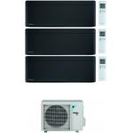 CONDIZIONATORE DAIKIN STYLISH TOTAL BLACK WI-FI TRIAL SPLIT7000+12000+12000 BTU INVERTER GAS R-32 3MXM52N A+++
