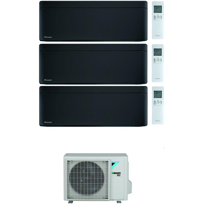 CONDIZIONATORE DAIKIN STYLISH TOTAL BLACK WI-FI TRIAL SPLIT7000+9000+15000 BTU INVERTER GAS R-32 3MXM68N A+++