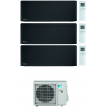 CONDIZIONATORE DAIKIN STYLISH TOTAL BLACK WI-FI TRIAL SPLIT 7000+12000+12000 BTU INVERTER GAS R-32 3MXM68N A+++
