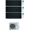 CONDIZIONATORE DAIKIN STYLISH TOTAL BLACK WI-FI TRIAL SPLIT7000+12000+15000 BTU INVERTER GAS R-32 3MXM68N A+++