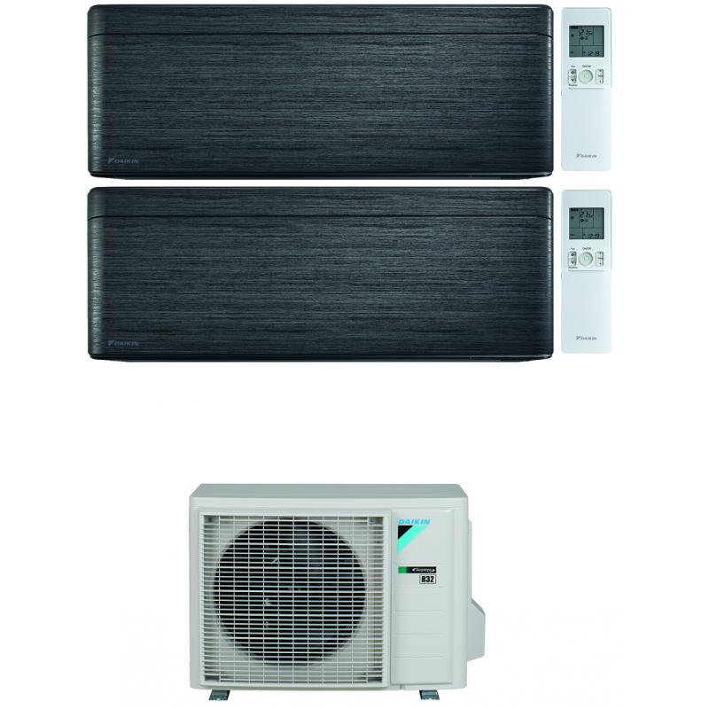 CONDIZIONATORE DAIKIN STYLISH REAL BLACKWOOD WI-FI DUAL SPLIT 9000+18000 BTU INVERTER R32 2MXM68N A+++