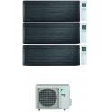 CONDIZIONATORE DAIKIN STYLISH REAL BLACKWOOD WI-FI TRIAL SPLIT 7000+7000+9000 BTU INVERTER R32 3MXM52N A+++