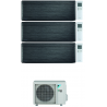 CONDIZIONATORE DAIKIN STYLISH REAL BLACKWOOD WI-FI TRIAL SPLIT 7000+12000+12000 BTU INVERTER R32 3MXM52N A+++