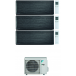 CONDIZIONATORE DAIKIN STYLISH REAL BLACKWOOD WI-FI TRIAL SPLIT 7000+12000+12000 BTU INVERTER R32 3MXM68N A+++
