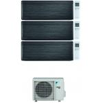 CONDIZIONATORE DAIKIN STYLISH REAL BLACKWOOD WI-FI TRIAL SPLIT 7000+12000+15000 BTU INVERTER R32 3MXM68N A+++
