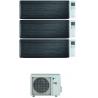 CONDIZIONATORE DAIKIN STYLISH REAL BLACKWOOD WI-FI TRIAL SPLIT 9000+12000+15000 BTU INVERTER R32 3MXM68N A+++