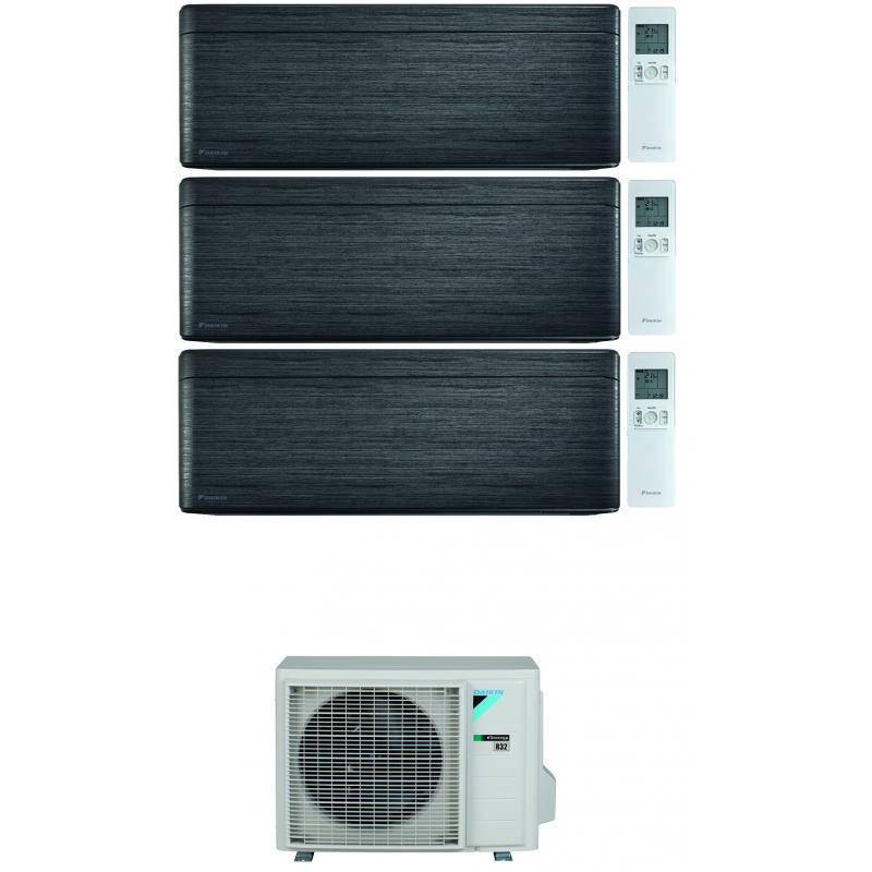 CONDIZIONATORE DAIKIN STYLISH REAL BLACKWOOD WI-FI TRIAL SPLIT 9000+15000+15000 BTU INVERTER R32 3MXM68N A+++