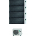 CONDIZIONATORE DAIKIN STYLISH REAL BLACKWOOD WI-FI QUADRI SPLIT 7000+7000+15000+15000 BTU INVERTER R32 4MXM80N A+++