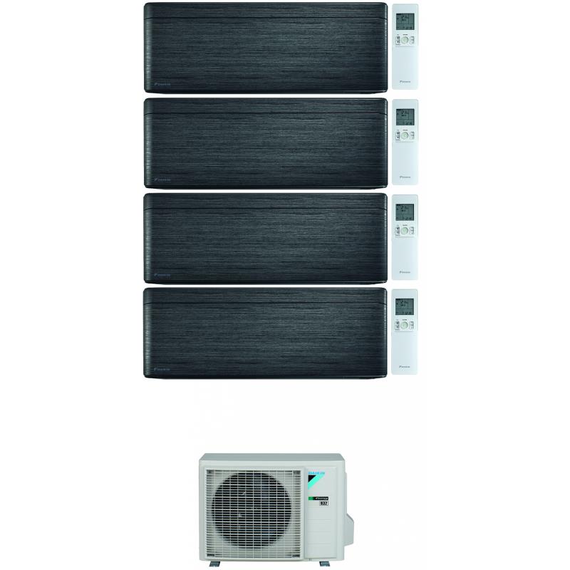 CONDIZIONATORE DAIKIN STYLISH REAL BLACKWOOD WI-FI QUADRI SPLIT 7000+9000+9000+12000 BTU INVERTER R32 4MXM80N A+++