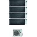 CONDIZIONATORE DAIKIN STYLISH REAL BLACKWOOD WI-FI QUADRI SPLIT 7000+9000+15000+18000 BTU INVERTER R32 4MXM80N A+++