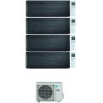 CONDIZIONATORE DAIKIN STYLISH REAL BLACKWOOD WI-FI QUADRI SPLIT 9000+12000+12000+15000 BTU INVERTER R32 4MXM80N A+++