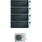 CONDIZIONATORE DAIKIN STYLISH REAL BLACKWOOD WI-FI QUADRI SPLIT 9000+12000+12000+18000 BTU INVERTER R32 4MXM80N A+++