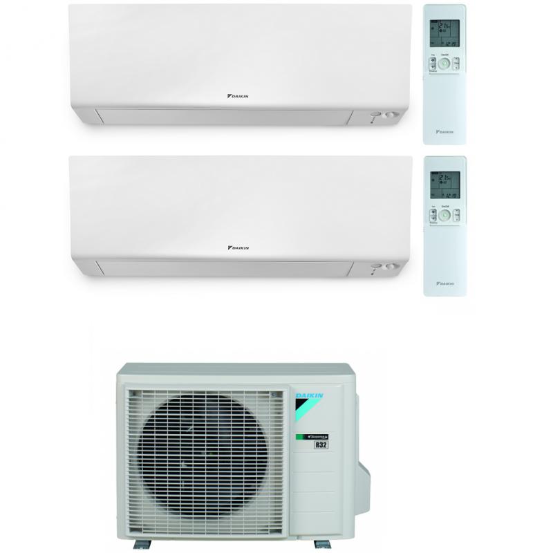 CONDIZIONATORE DAIKIN PERFERA WALL DUAL SPLIT 5000+12000 BTU WI-FI INVERTER R32 2MXM50N A+++
