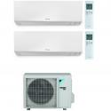 CONDIZIONATORE DAIKIN PERFERA WALL DUAL SPLIT 9000+12000 BTU WI-FI INVERTER R32 2MXM50N A+++