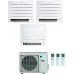 CONDIZIONATORE DAIKIN TRIAL SPLIT A PAVIMENTO PERFERA FLOOR 9000+9000+12000 BTU WIFI INVERTER 3MXM68N A+++