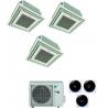 CONDIZIONATORE DAIKIN TRIAL SPLIT CASSETTA 4 VIE FULLY FLAT 9000+12000+12000 BTU INVERTER COMANDO A FILO E GRIGLIA 3MXM68N A+++