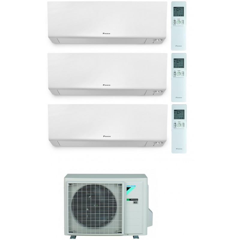 CONDIZIONATORE DAIKIN PERFERA WALL TRIAL SPLIT 7000+12000+12000 BTU WI-FI INVERTER R32 3MXM52N A+++