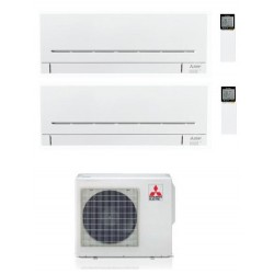 CONDIZIONATORE MITSUBISHI MSZ-AP R-32 DUAL SPLIT 7000+7000 MXZ-2F42VF A+++