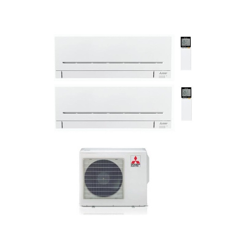 CONDIZIONATORE MITSUBISHI MSZ-AP R-32 DUAL SPLIT 7000+9000 WI-FI MXZ-2F42VF A+++