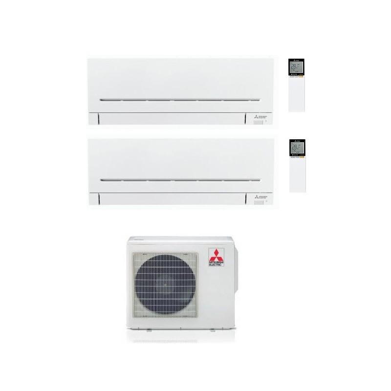 CONDIZIONATORE MITSUBISHI MSZ-AP R-32 DUAL SPLIT 7000+18000 WI-FI MXZ-2F53VF A+++