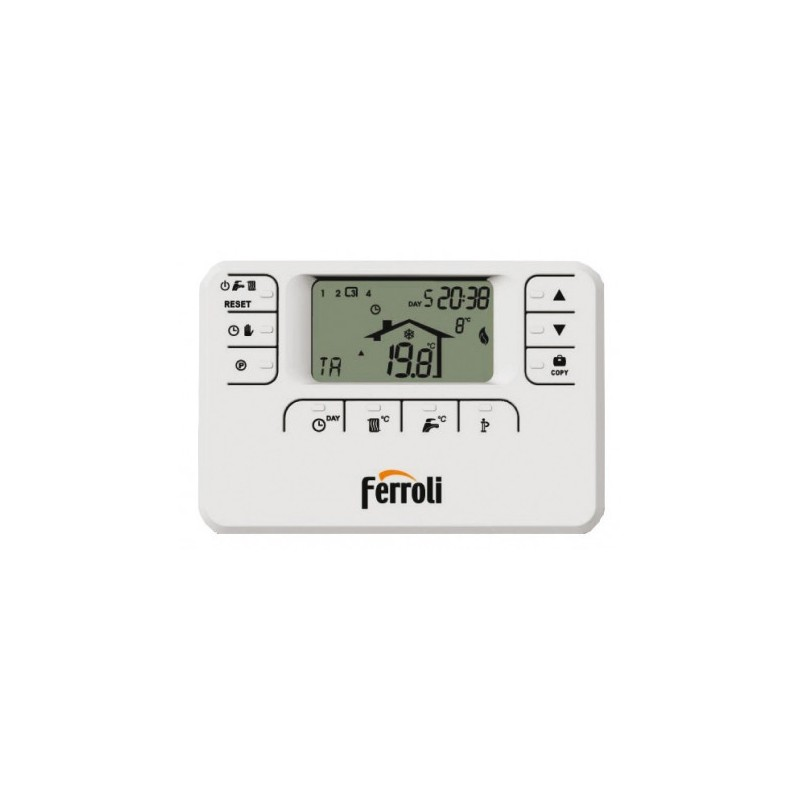 Ferroli Romeo W RF Wireless Cronotermostato Settimanale Comando Remoto Modulante
