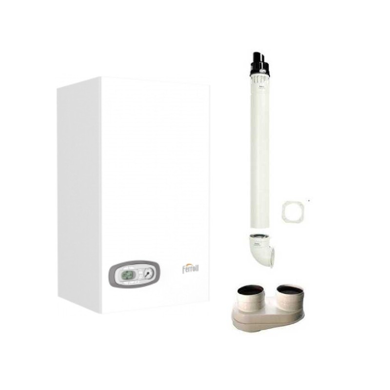 Caldaia a Condensazione Ferroli DIVACONDENS D PLUS F 24 kw Metano + kit fumi omaggio