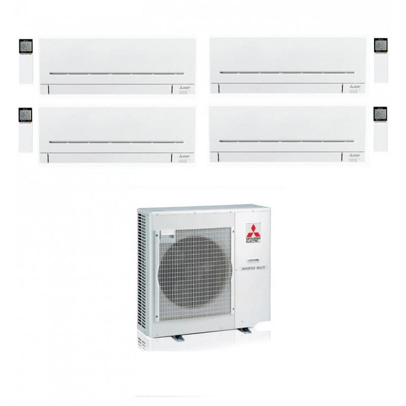 CONDIZIONATORE MITSUBISHI MSZ-AP QUADRI SPLIT 9000+9000+12000+12000 MXZ-4E83VA A++