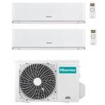 CONDIZIONATORE CLIMATIZZATORE HISENSE DUAL SPLIT ENERGY R32 WIFI 12000+12000 12+12 2AMW50U4RXA