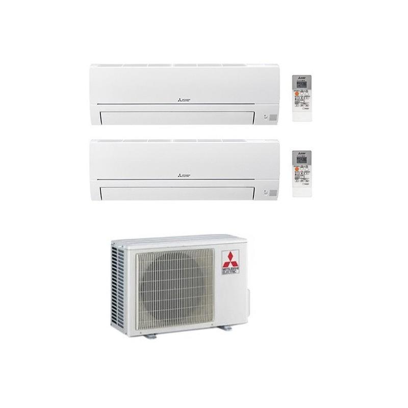 MITSUBISHI CLIMATIZZATORE CONDIZIONATORE DUAL SPLIT MSZ-HR R-32 9000+9000 MXZ-2HA50VF A++
