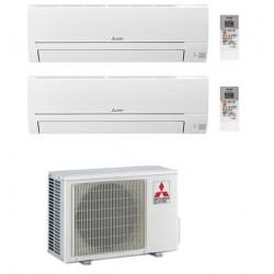 MITSUBISHI CLIMATIZZATORE CONDIZIONATORE DUAL SPLIT MSZ-HR R-32 9000+12000 MXZ-2HA50VF A++