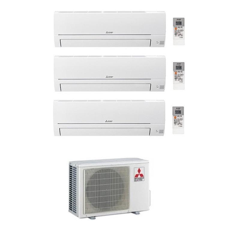 MITSUBISHI CLIMATIZZATORE CONDIZIONATORE TRIAL SPLIT MSZ-HR R-32 9000+9000+12000 MXZ-3HA50VF A++