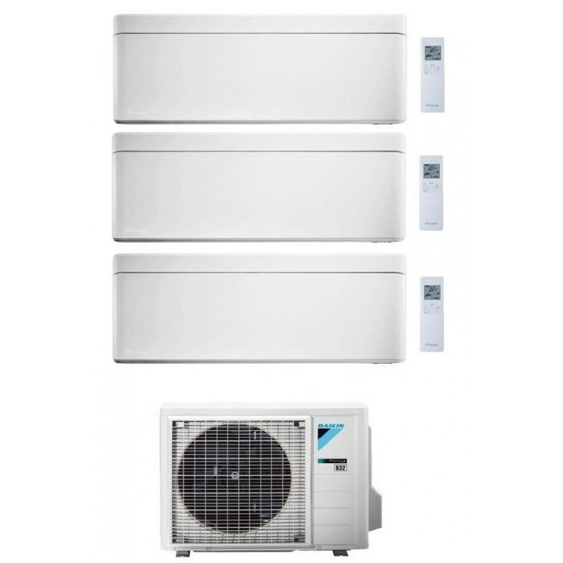 DAIKIN STYLISH CONDIZIONATORE TRIAL SPLIT 7000+12000+15000 BTU BIANCO GAS R-32 WI-FI INVERTER 3MXM68N A+++