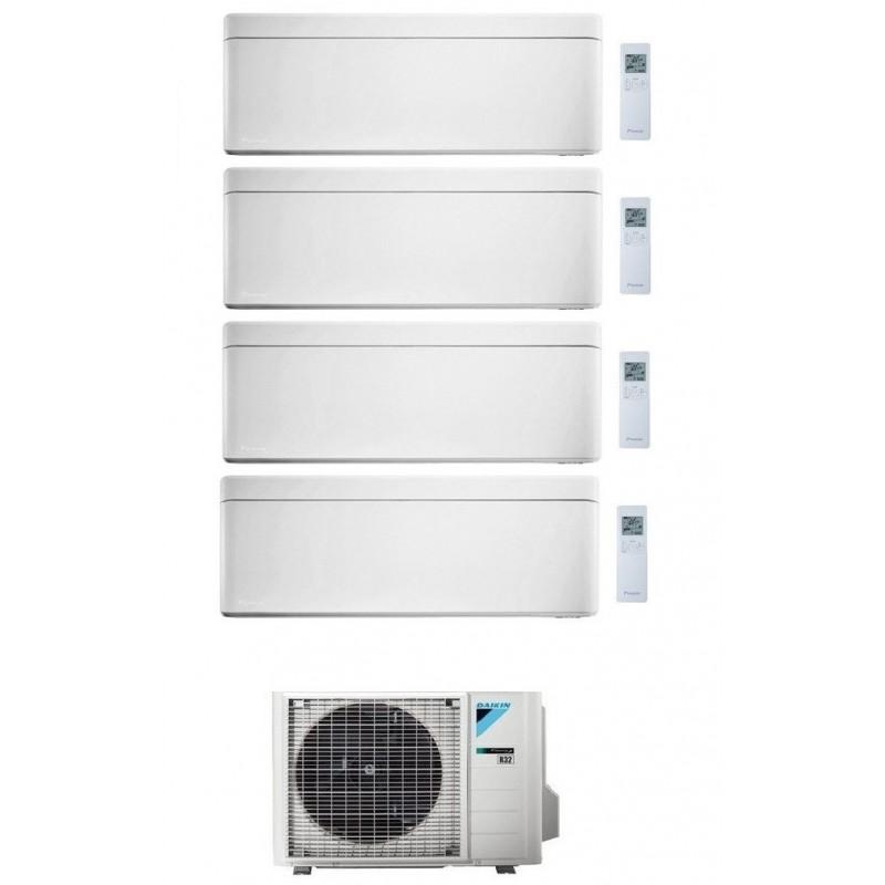 DAIKIN STYLISH CONDIZIONATORE QUADRI SPLIT 7000+12000+12000+15000 BTU BIANCO GAS R-32 WI-FI INVERTER 4MXM80N A+++