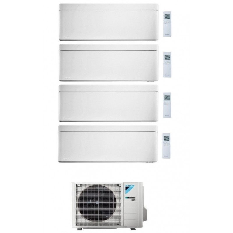 DAIKIN STYLISH CONDIZIONATORE QUADRI SPLIT 9000+9000+9000+15000 BTU BIANCO GAS R-32 WI-FI INVERTER 4MXM80N A+++