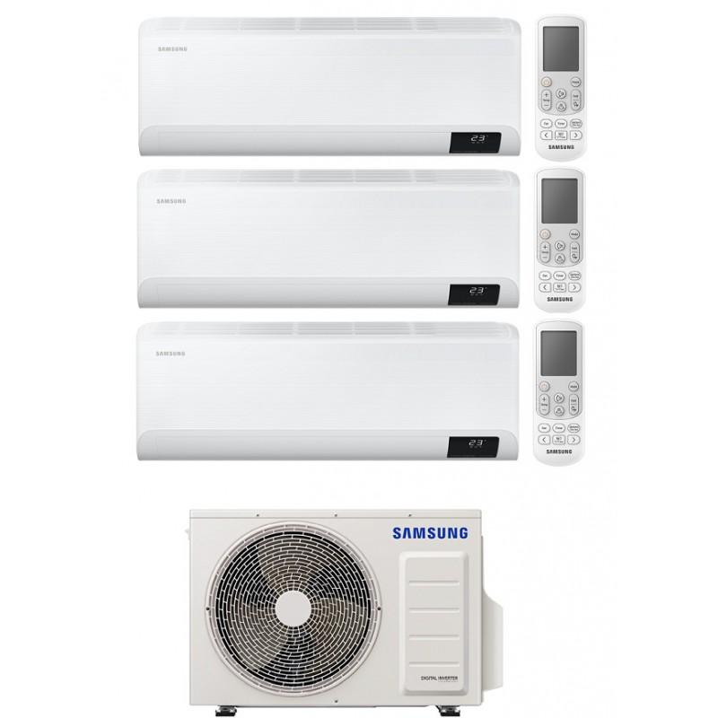 SAMSUNG CEBU CONDIZIONATORE TRIAL SPLIT 7000+9000+9000 BTU INVERTER WIFI R32 AJ068TXJ3KG A++ NEW 2020
