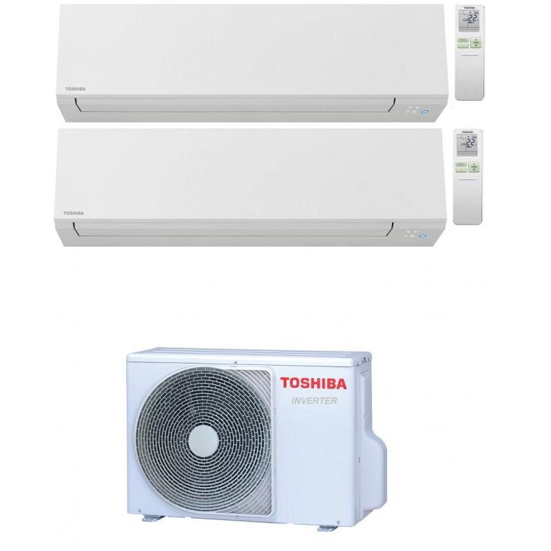 TOSHIBA SHORAI EDGE WIFI R32 CONDIZIONATORE DUAL SPLIT INVERTER 7000+12000 BTU RAS-2M14U2AVG-E A++