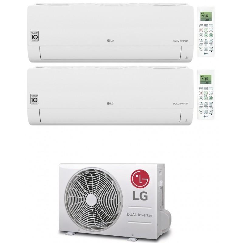 LG LIBERO SMART CONDIZIONATORE WIFI R32 DUAL SPLIT INVERTER 9000+12000 BTU MU2R17 A++