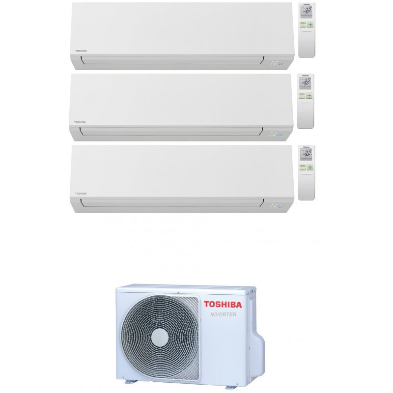TOSHIBA SHORAI EDGE WIFI R32 CONDIZIONATORE TRIAL SPLIT INVERTER 7000+9000+12000 BTU RAS-3M18U2AVG-E A++